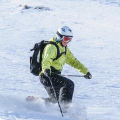 Spass beim Skifahren