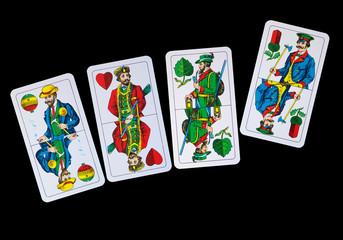 Spiekkarten - Trumpfkarten Ober beim Schafkopf