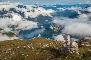 Alpine view in Krippenstein Austria