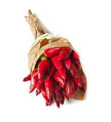 Bunch of fresh small red pepper