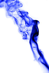 blue smoke on white background