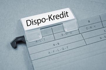 Ordner mit Dispo-Kredit
