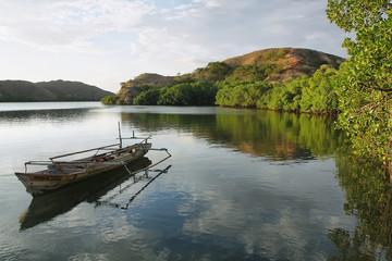 Deserted boat in Rinca island