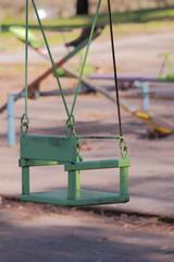 Empty green Swing