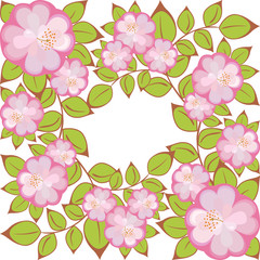 vector square flower pattern