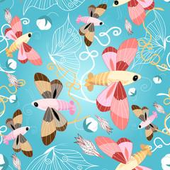 pattern of beautiful butterflies