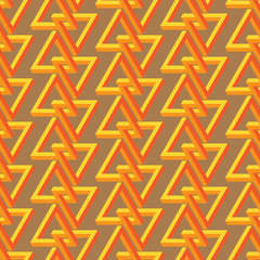 Impossible triangle seamless pattern