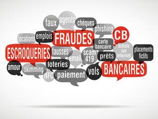nuage de mots : arnaque fraude escroquerie CB
