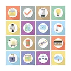 Modern flat web design icons, Set 2