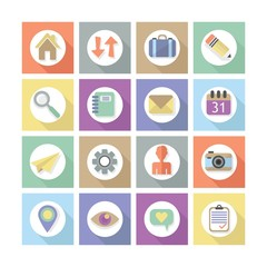 Modern flat web design icons, Set 1