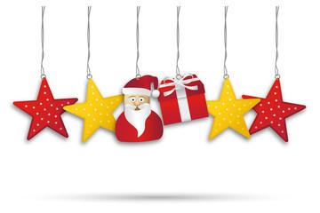 XMAS Anhänger *** Dekoration Santa Star