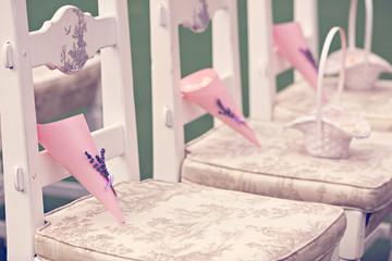 Rose petals on the wedding