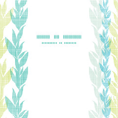 Blue green seaweed vines center frame seamless pattern