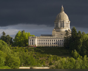 Olympia Washington Capital Building with Dark Sky