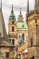 View of old town in Prague,Charles bridge,Czech Republic