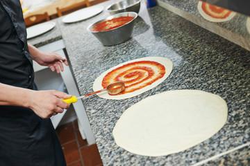 Pizza preparartion
