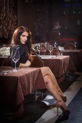pretty woman in nightclub