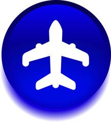 Векторная иконка с изображением самолета