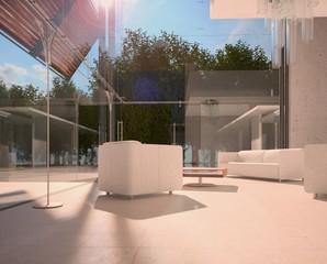 Glas Front Living Room