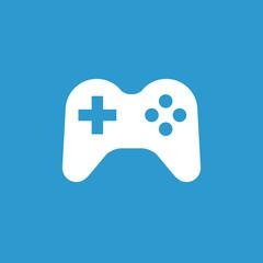 joystick icon, white on the blue background .