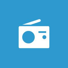 radio icon, white on the blue background .