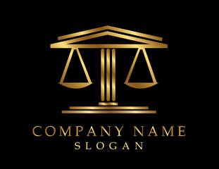 Lawyer logotype black background