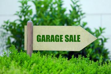 Garage sale sign at park