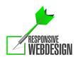 responsive webdesign dart check mark illustration