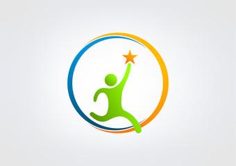 success healthy logo association