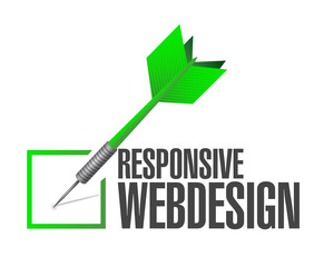 responsive webdesign dart check mark illustration