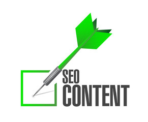 seo content dart check mark illustration design