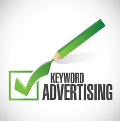 keyword advertising check mark illustration