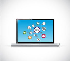 content marketing computer illustration design