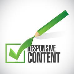 responsive content check mark illustration design