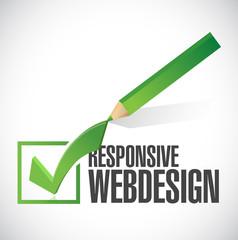 responsive web design check mark illustration