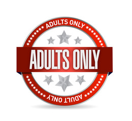 adults only seal illustration design