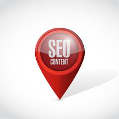 seo content locator pointer illustration design