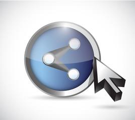 share button illustration design