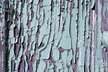 texrure of old cracked wood painted blue