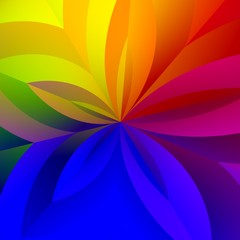 Colorful Abstract Floral Rainbow Background