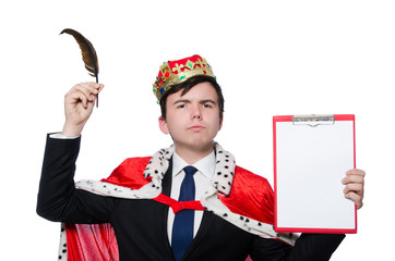 Concept of king businessman with crown