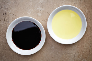 oil and balsamic vinegar