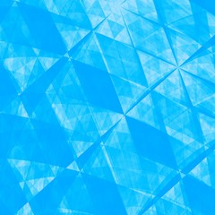 Blue Abstract Origami Paper Background - Texture