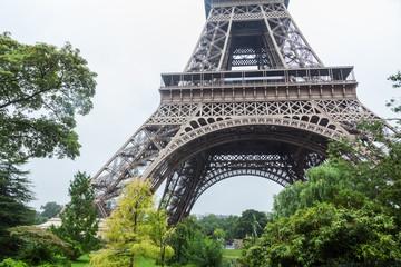 Eiffelturm mit Bäumen