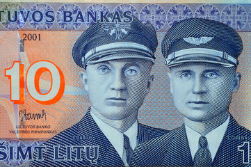 ten litu Lithuanian  banknote