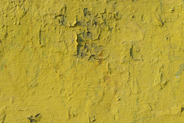 Old yellow paint texture