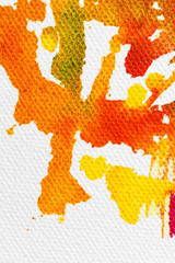 bright colors on the canvas of a textured background