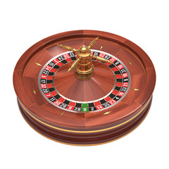 Roulette Over White. Clipping path included.