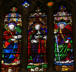 Saint Peter, James and Paul -  stained glass in Oviedo