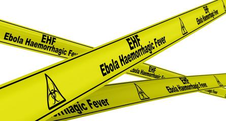 Лихорадка Эбола (Ebola HF) . Желтая оградительная лента